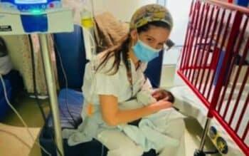Yael Cohen nurses a baby in need