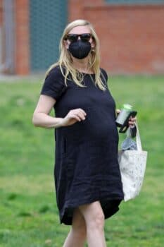 A Pregnant Kirsten Dunst Visits The Park With Her Son