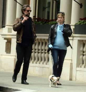 Heavily pregnant Pixie Geldof shows off her huge baby bump with Jack Guiness