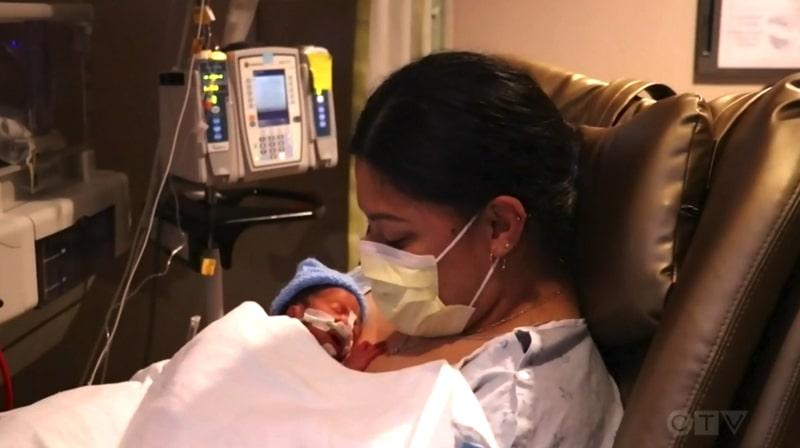 Lavinia Lavi Mounga with baby Raymond