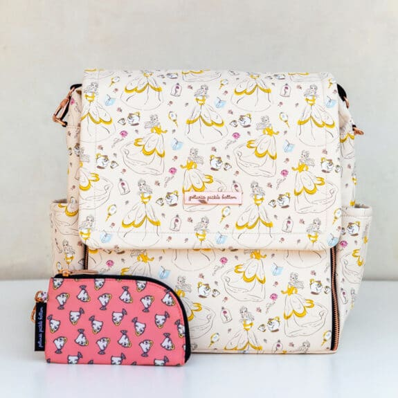 Petunia Pickle Bottom Debuts New Capsule Disney Princess Diaper Bag Collection - whimsicle belle front