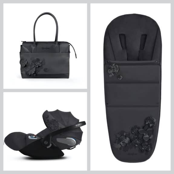 CYBEX Simply Flowers collection accessories grey