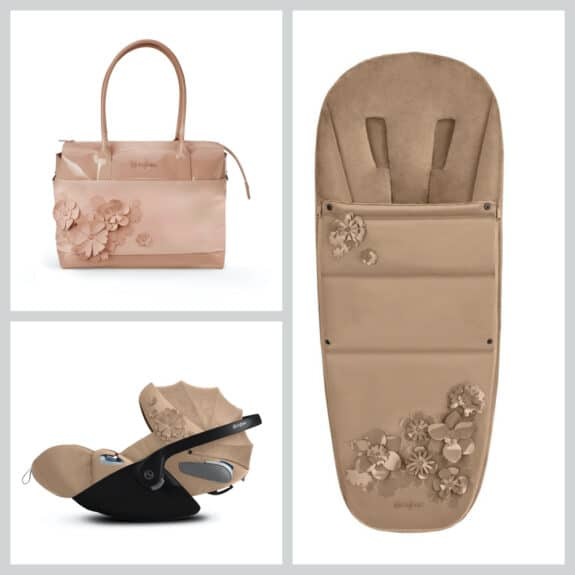 CYBEX Simply Flowers collection accessories nude