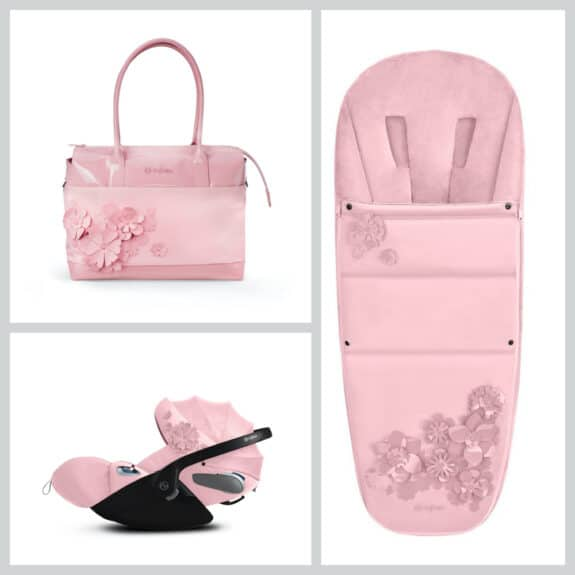 CYBEX Simply Flowers collection accessories pink
