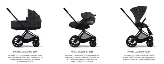 CYBEX Simply Flowers collection - grey