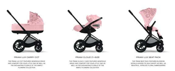 CYBEX Simply Flowers collection - pink