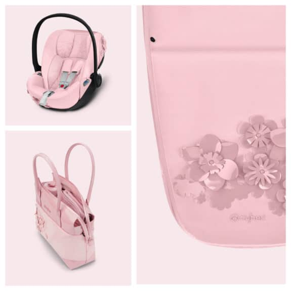 CYBEX Simply Flowers collection pink details accessories