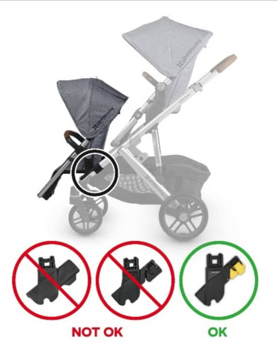 UPPAbaby Recalls Adapters Included with RumbleSeats Due to Child Fall Hazard
