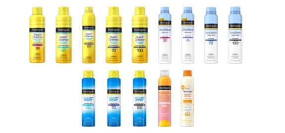 Johnson & Johnson recalls Aveeno and Neutrogena Spray Sunscreens Due To Benzene