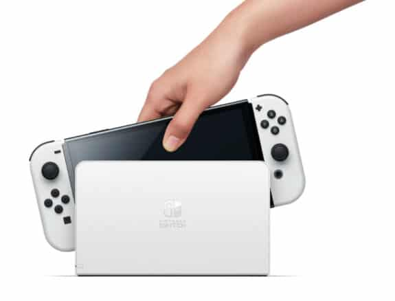 Nintendo Announces New 7-inch OLED Switch Model dock