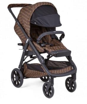 Fendi Baby FF Logo Print Stroller