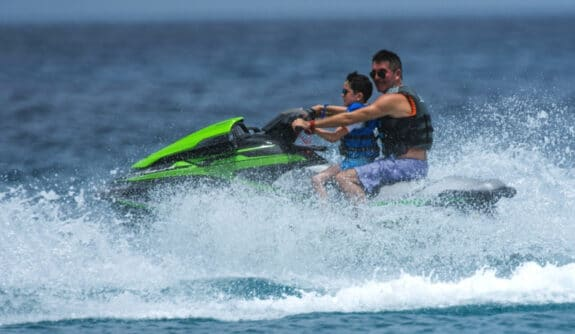 simon cowell and son eric cowell in Barbados