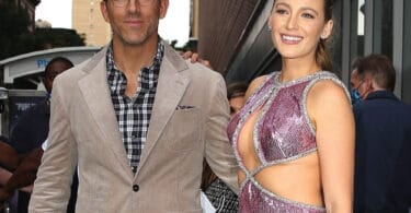 Blake Lively and Ryan Reynolds pose for photos at the Premiere of Free Guy in New York City