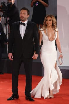 Ben Affleck and Jennifer Lopez on the red carpet for the movie The Last Duel Venice Film Festival 2021 2