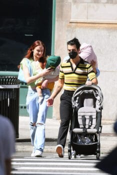 Sophie Turner and Joe Jonas take their daughter Willa out for a stroll