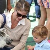 Selma Blair & Her Son Arthur Play At The Petting Zoo!