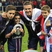 David Beckham Celebrates His Last Game With His Family