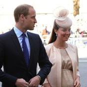 Duchess of Cambridge Is Pretty in Peach At Queen's Coronation Service!