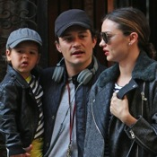 Orlando Bloom & Miranda Kerr Spend Time Together With Their Son