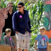Charlie Sheen and Denise Richards Pick Pumpkins With The Kids In LA!