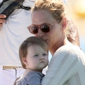 Uma Thurman Vacations in St. Tropez with Her Family