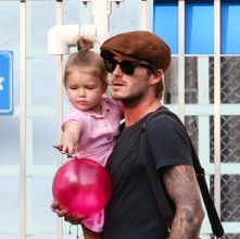 David & Harper Beckham Play At The Park!