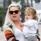 Pink and Her Daughter Willow Grab A Bite in Malibu