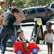 Jillian Michaels Plays With Her Kids in LA