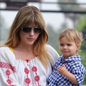 Selma Blair Steps Out With Her Little Man