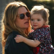 Drew Barrymore Lunches With Her Family in LA