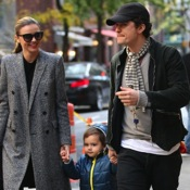 Orlando Bloom & Miranda Kerr Step Out in NYC With Their Son Flynn