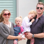 Rebecca Gayheart and Eric Dane Dine With Their Daughters