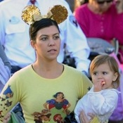 Kourtney Kardashian and Her Kids Enjoy Disneyland