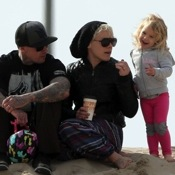 Pink And Carey Hart Hang Out The Beach