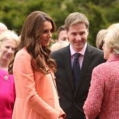 Catherine Middleton is Pretty in Peach During Children's Hospice Visit