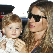 Gisele Bundchen Spotted with Baby Vivian at LAX