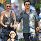 Orlando Bloom and Miranda Kerr Enjoy A Family Stroll in NYC