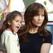 Jennifer Lopez Gets An On Set Visit From Her Twins