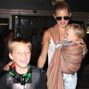 Kate Hudson & Her Family Touch Down At LAX