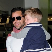 Ricky Martin Travels With His Boys