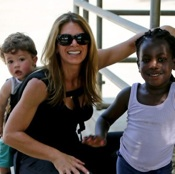 Jillian Michaels & Heidi Rhoades Take The Kids To Visit Buzz in Santa Barbara