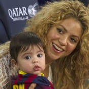 Shakira and Her Son Milan Cheer Dad Gerard On in Spain!