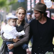 Elizabeth Berkley & Her Family Hit The Pumpkin Patch
