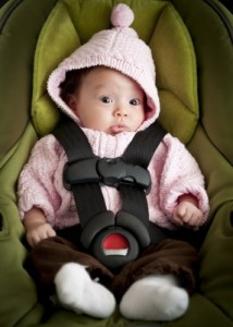 baby in an infant seat