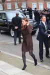 A pregnant Duchess of Cambridge, Kate Middleton, visits the Fostering Network