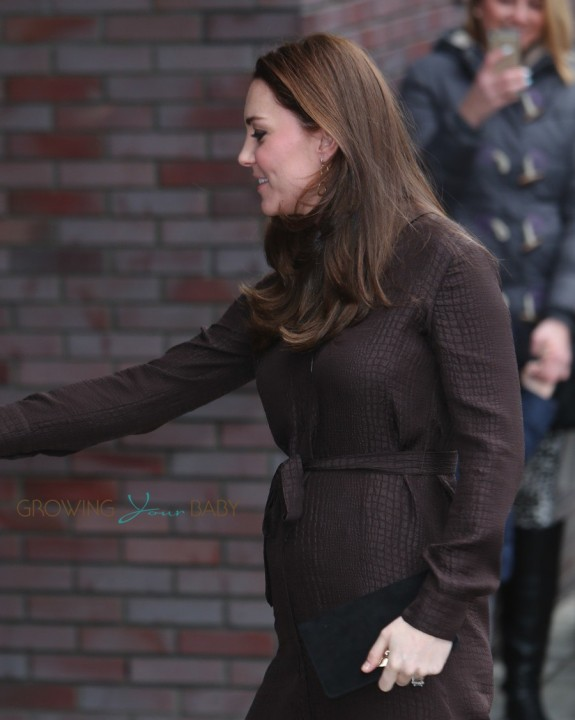 A pregnant Duchess of Cambridge, Kate Middleton, visits the Fostering Network, London