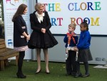 A pregnant Kate Middleton Clore Art Room Barlby Primary School