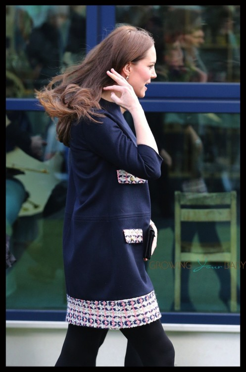 A pregnant Kate Middleton visits Barlby Primary School