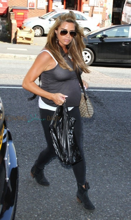 A pregnant Katie Price arrives at Fubar Radio in London