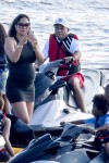 A pregnant Kimora Lee Simmons and Russell Simmons vacation in St
